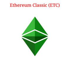 Ethereum classic etc logo vector
