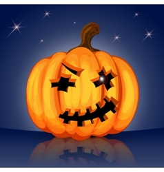 Evil scary Halloween pumpkin vector