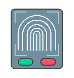 Fingerprint scan system pictogram vector