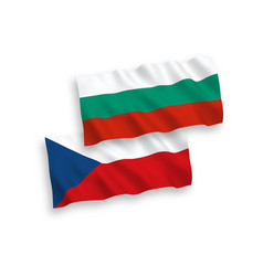 Flags czech republic and bulgaria on a white vector