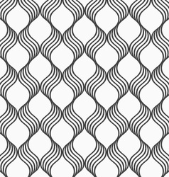 Flat gray with waves forming grid vector image