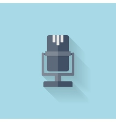Flat web icon Microphone vector