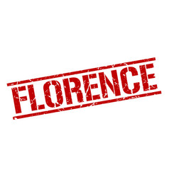 Florence red square stamp vector