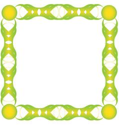 green bio frame vector image
