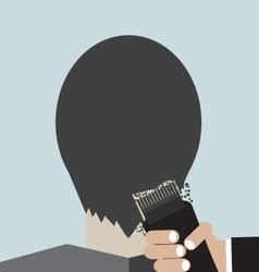 Hairdresser Using Hair Clipper vector image