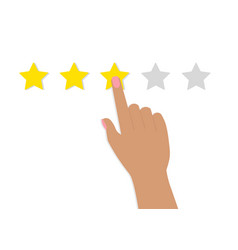 hand woman star rating vector image