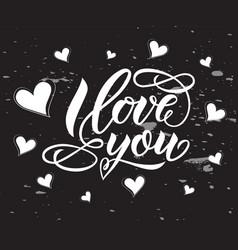 i love you hand letterenig modern calligraphy vector image