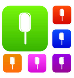 ice cream set color collection vector image