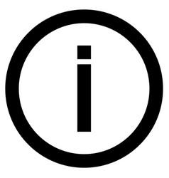 Information the black color icon vector