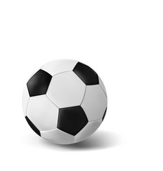 isolated realistic soccer ball on white background vector image
