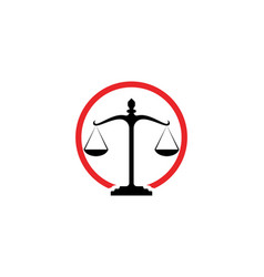 Justice lawyer logo and symbols template icons vector