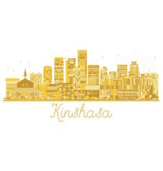 Kinshasa congo city skyline golden silhouette vector
