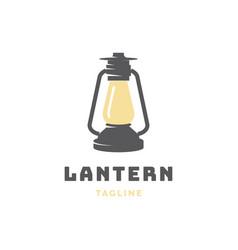 lantern logo design vector image