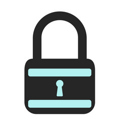 lock icon flat vector image