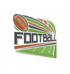logo of american football vector image