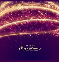 Luxury sparkles for merry christmas festival vector