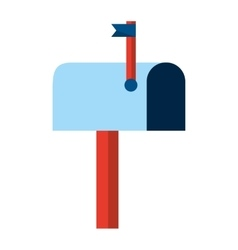 Mail box isolated icon design vector