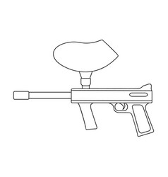 marker for paintballextreme sport single icon in vector image