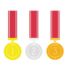 medal set vector image vector image