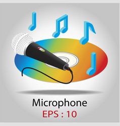 Microphone for karaoke vector