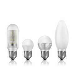 modern energy efficient led lamps set vector image