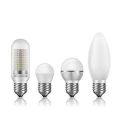 Modern energy efficient led lamps set vector