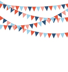Multicolored bright buntings flags garlands vector