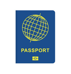 passport blue flat vector image