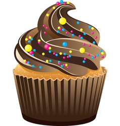 Piece of cupcake vector