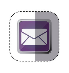 purple emblem close letter icon vector image