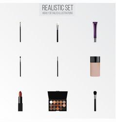 Realistic multicolored palette beauty accessory vector