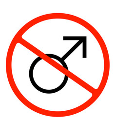 restricted area girls only sign vector image