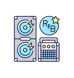 Rhythm and blues rgb color icon vector
