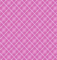 Seamless cross pink shading diagonal pattern vector image