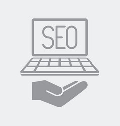 seo services on laptop vector image