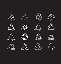 set recycle icons label template eco circle vector image