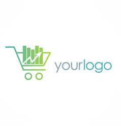 Shopping cart business logo vector