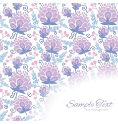 Soft purple flowers frame corner pattern vector
