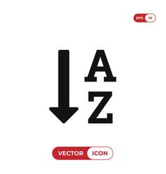 sort by alphabet icon vector image