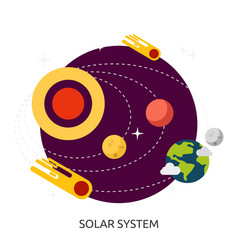 Space solar system image vector