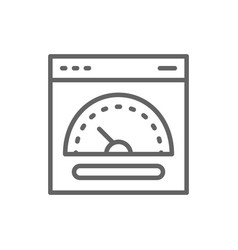 Speed hosting fast server line icon vector