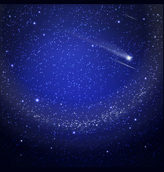 starry sky background vector image
