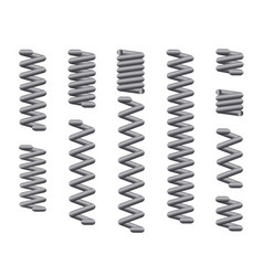 Steel coil springs vector