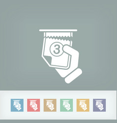 Ticket queue icon vector