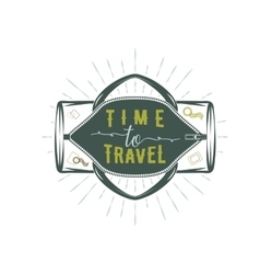 Travel inspiration quotes on sportbag vector