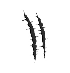 Two vertical trace of monster claw vector