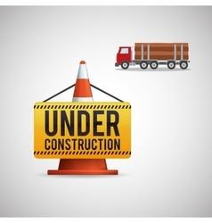 Under construction design supplies icon road vector