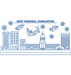 Usa west virginia charleston winter city vector
