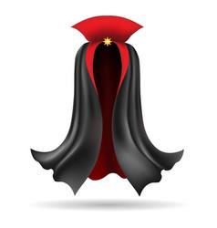 Vampire black cloak vector