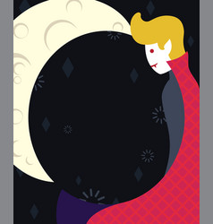 vampire in a cloak flat art vector image